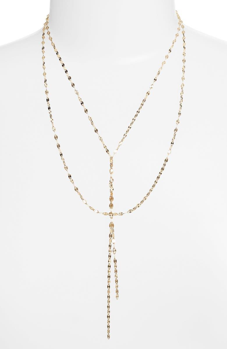 LANA JEWELRY 'Mega Blake' Lariat Necklace, Main, color, YELLOW GOLD