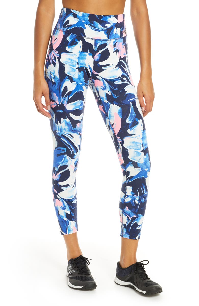 Printed Highrise Transform Crop Leggings by New Balance