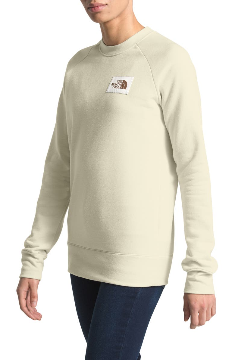 THE NORTH FACE Heritage Crewneck Sweatshirt, Main, color, VINTAGE WHITE HEATHER