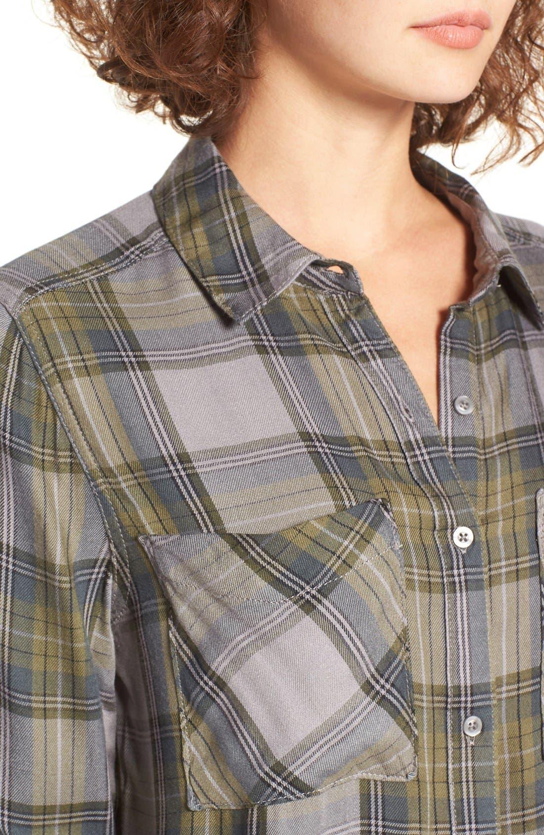 ,                             Plaid Tunic Shirt,                             Alternate thumbnail 15, color,                             030