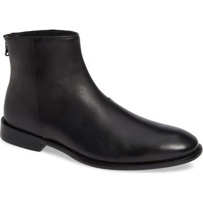 John Varvatos Star Usa Nyc Back Zip Boot- Black