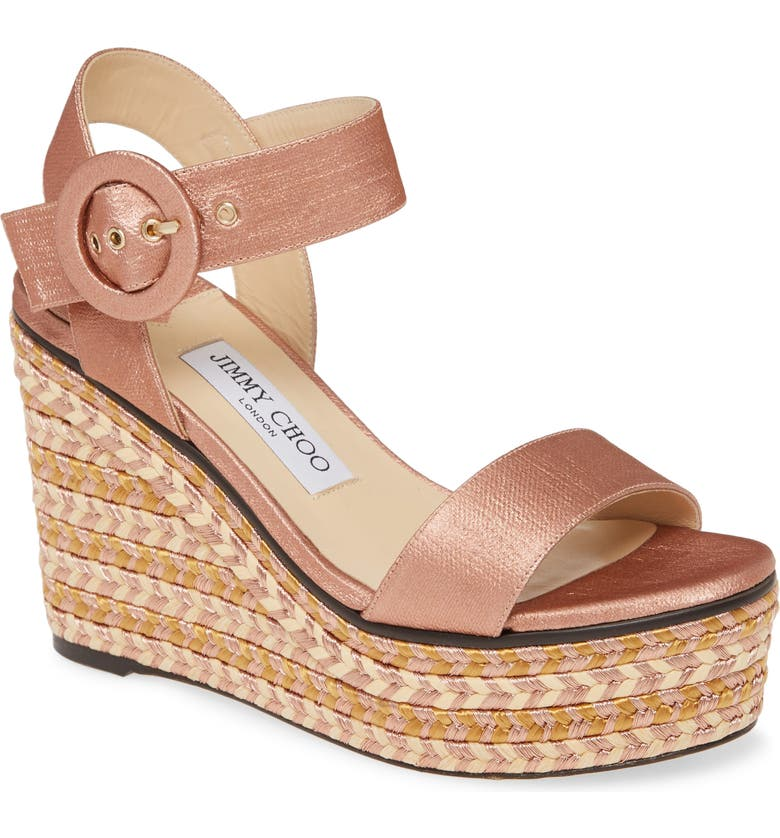 JIMMY CHOO Platform Wedge, Main, color, BLUSH MIX