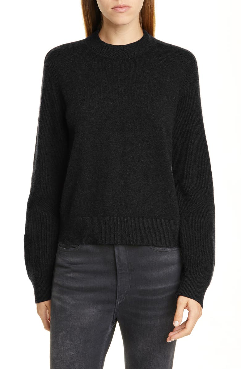RAG & BONE Logan Cashmere Sweater, Main, color, BLK
