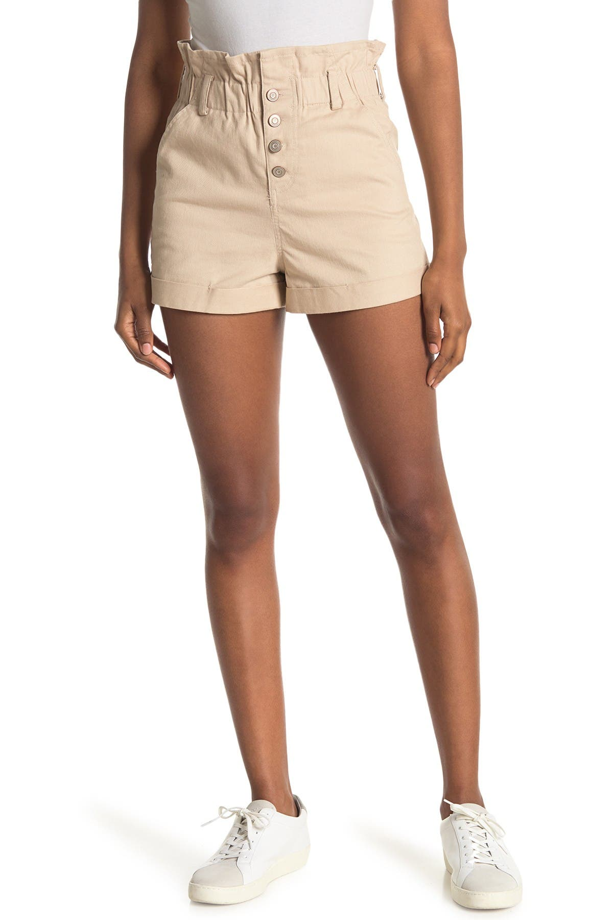 Image of Elodie Paperbag Button Front Shorts