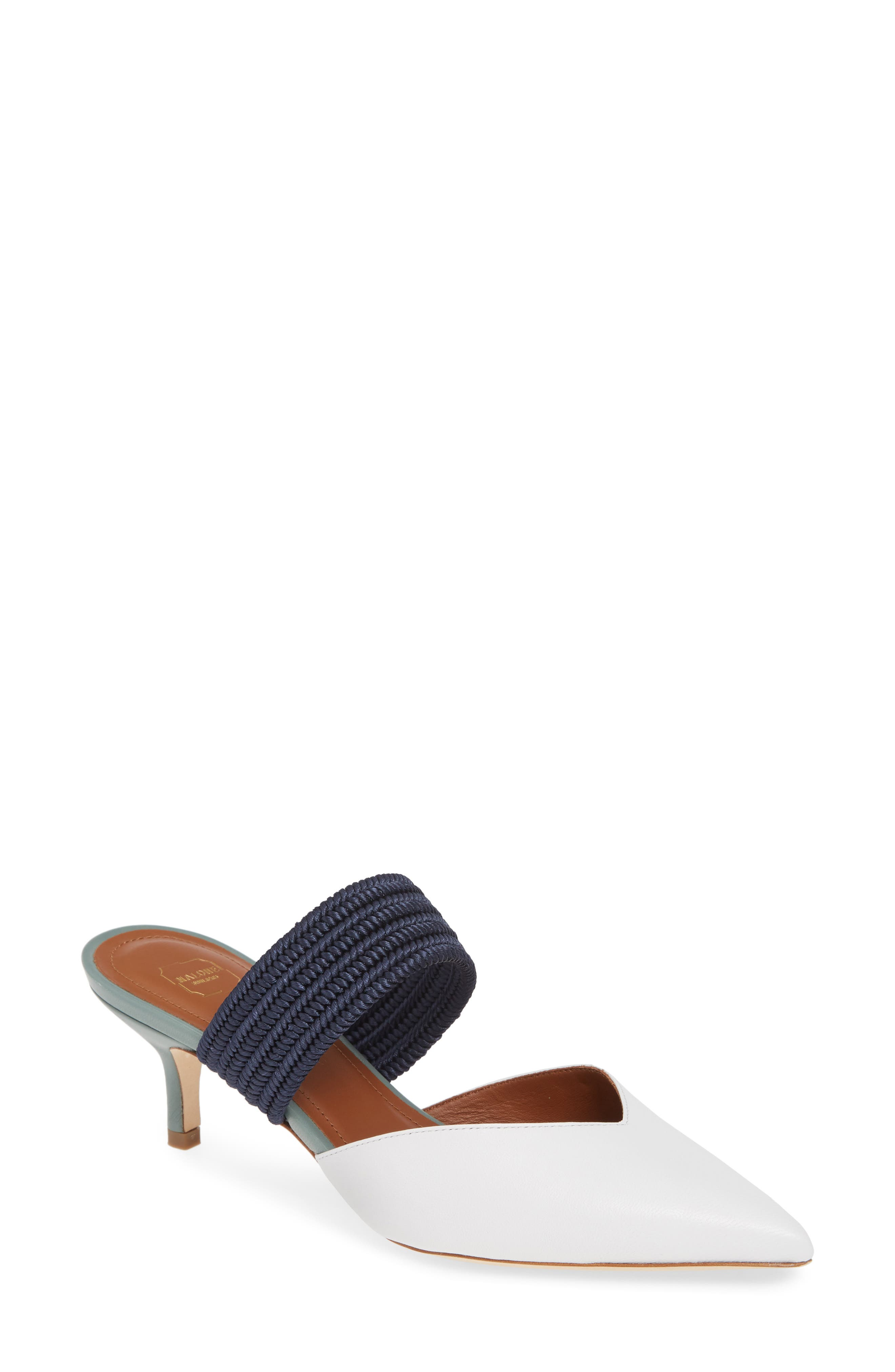 Malone Souliers Maisie Banded Mule - White