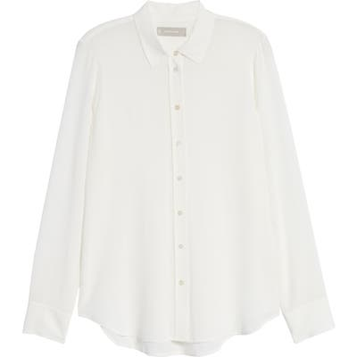Everlane The Clean Silk Relaxed Shirt, White