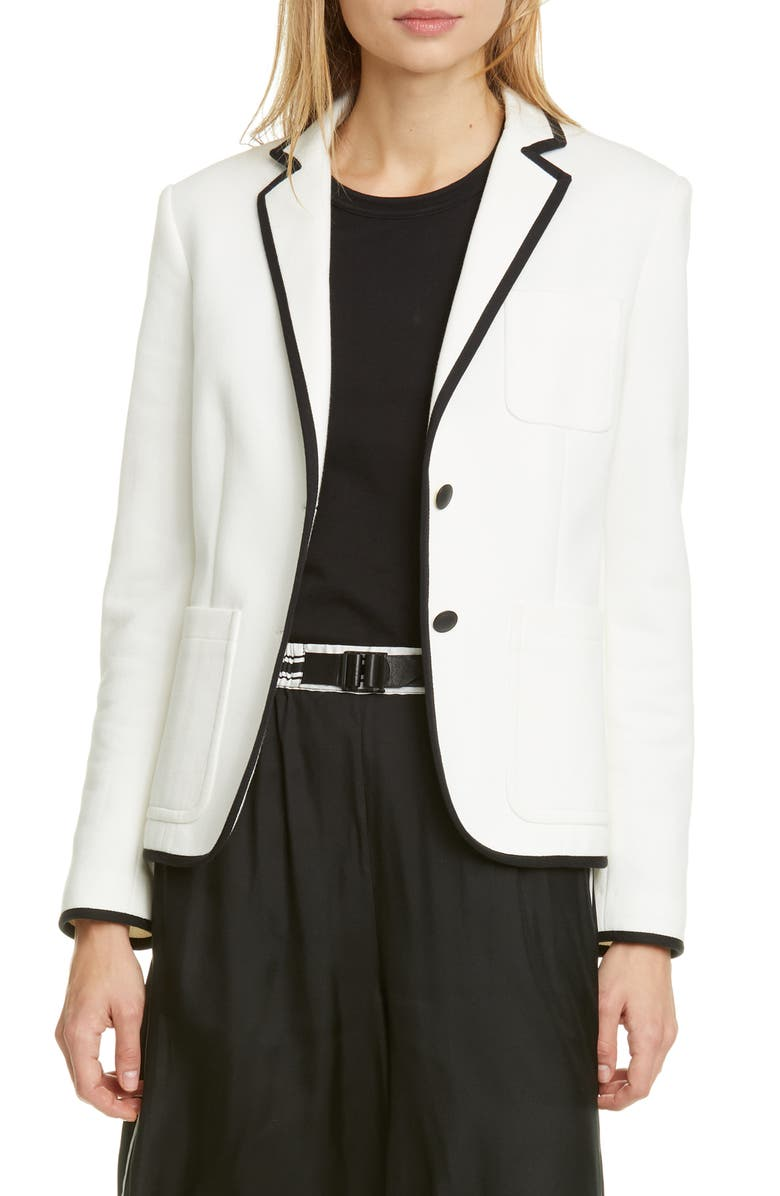 RAG & BONE Nancie Cotton Blend Piqué Blazer, Main, color, MAML