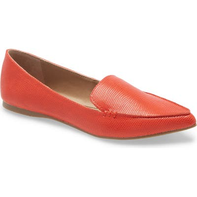 Steve Madden Feather Loafer Flat, Coral
