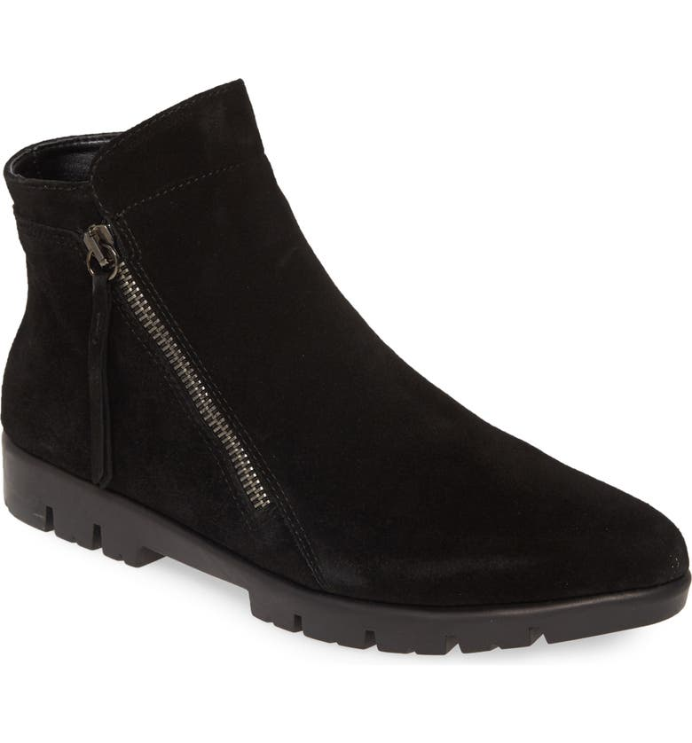 THE FLEXX Mojo Bootie, Main, color, BLACK WATERPROOF SUEDE
