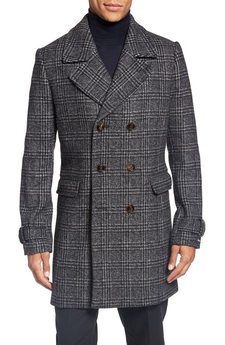 TED BAKER LONDON Watts Glen Plaid Coat, Main, color, 010