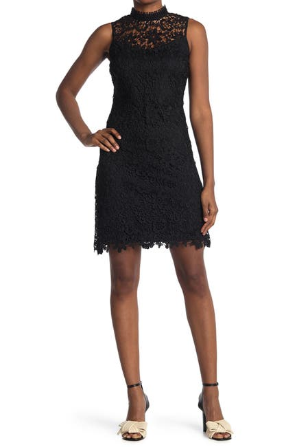 Image of bebe Chemical Floral Lace Dress