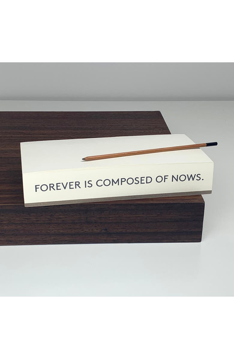 WMS & CO. Quote Note Pad, Main, color, FOREVER IS COMPOSED OF NOWS