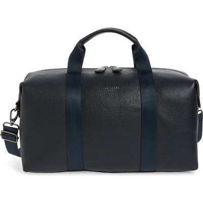 Ted Baker London Holding Leather Duffle Bag - Blue