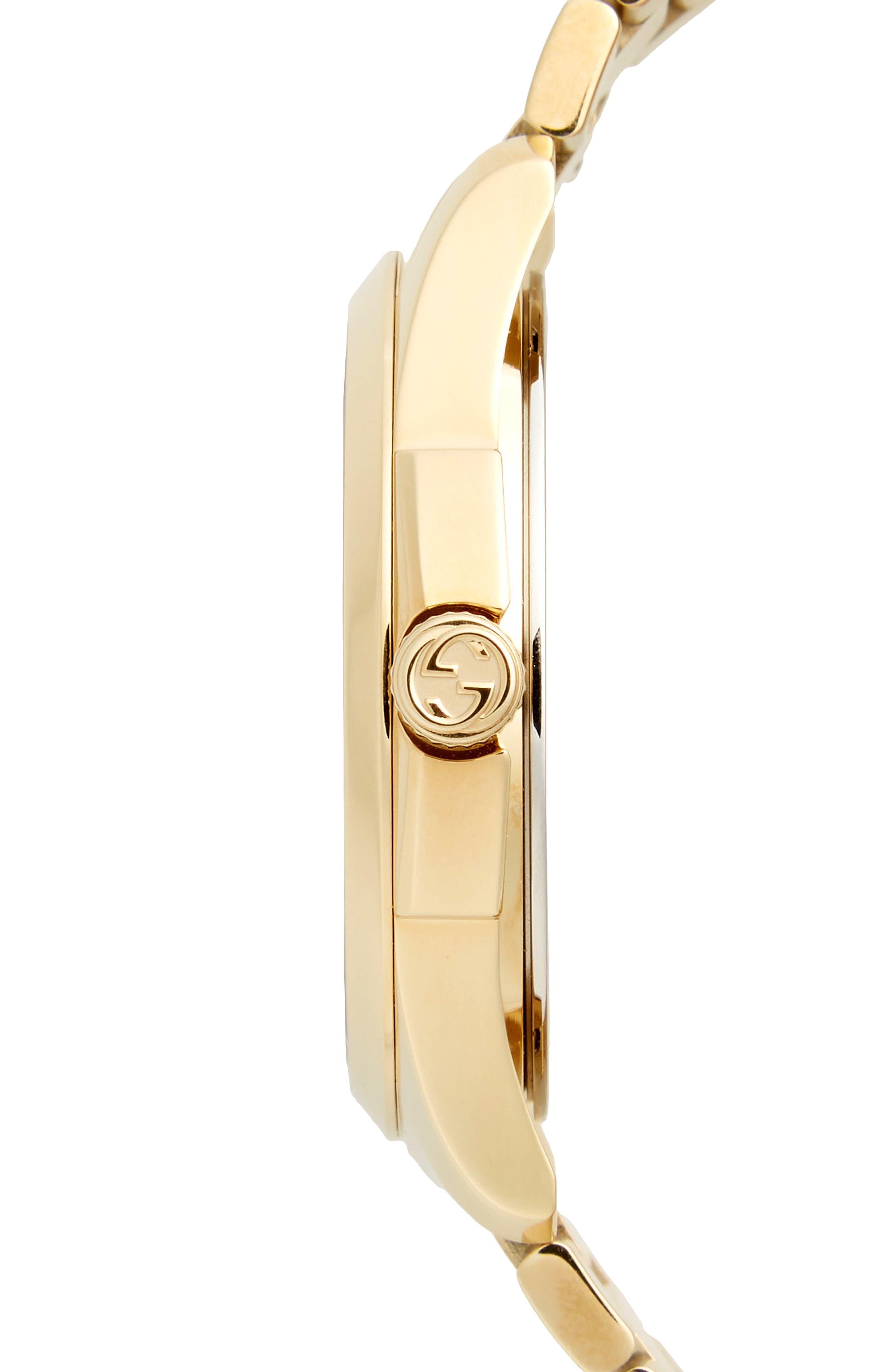 ,                             Round Bracelet Watch, 38mm,                             Alternate thumbnail 3, color,                             GOLD