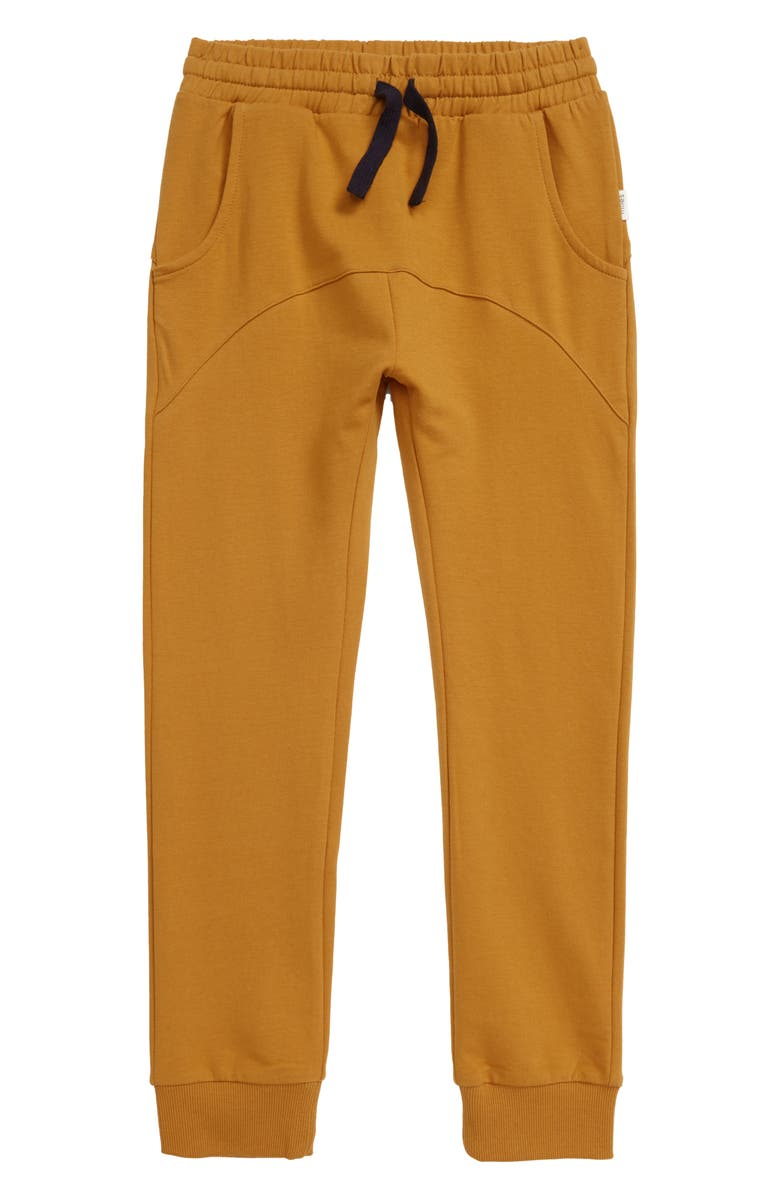 MILES BABY Knit Jogger Pants, Main, color, 204 GOLD