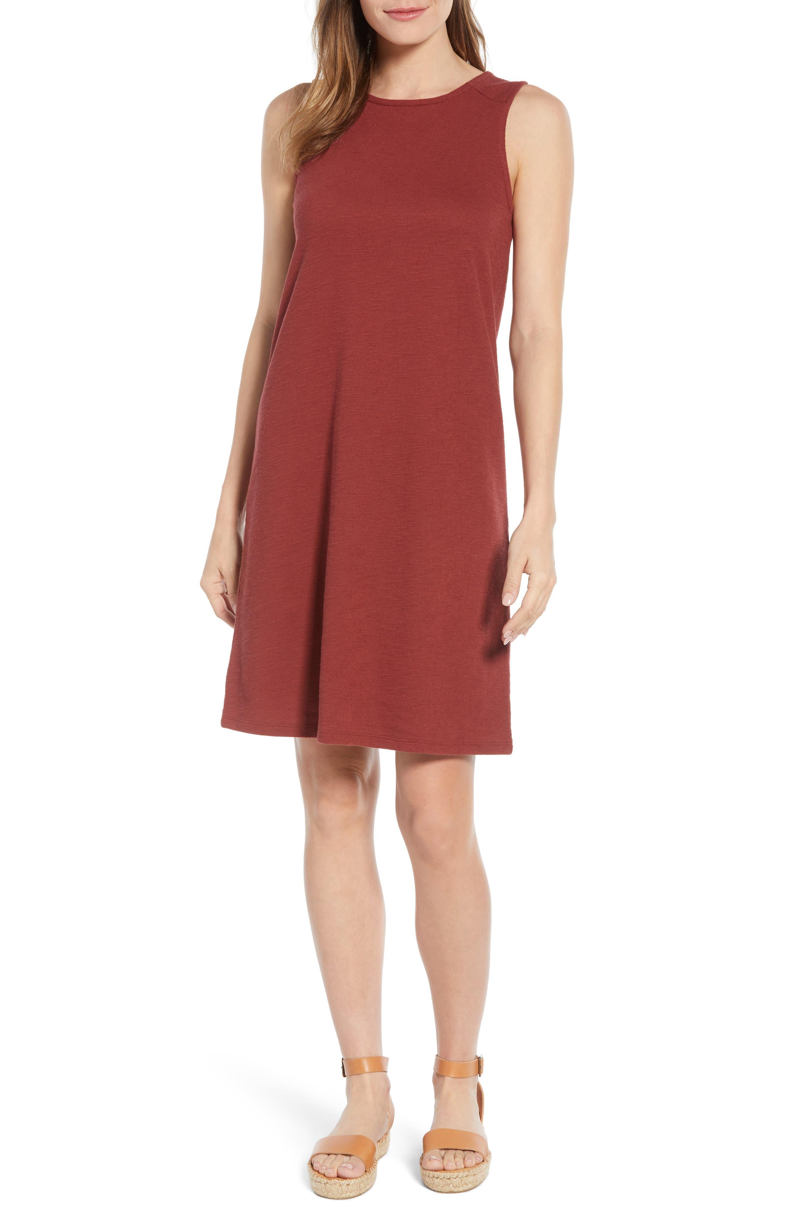 Caslon Knit Tank Dress, Burgundy