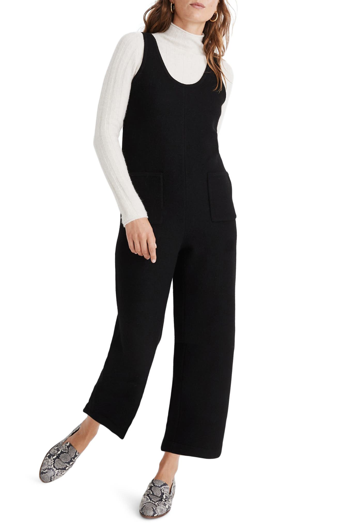 Patch Pocket Sweater Jumpsuit