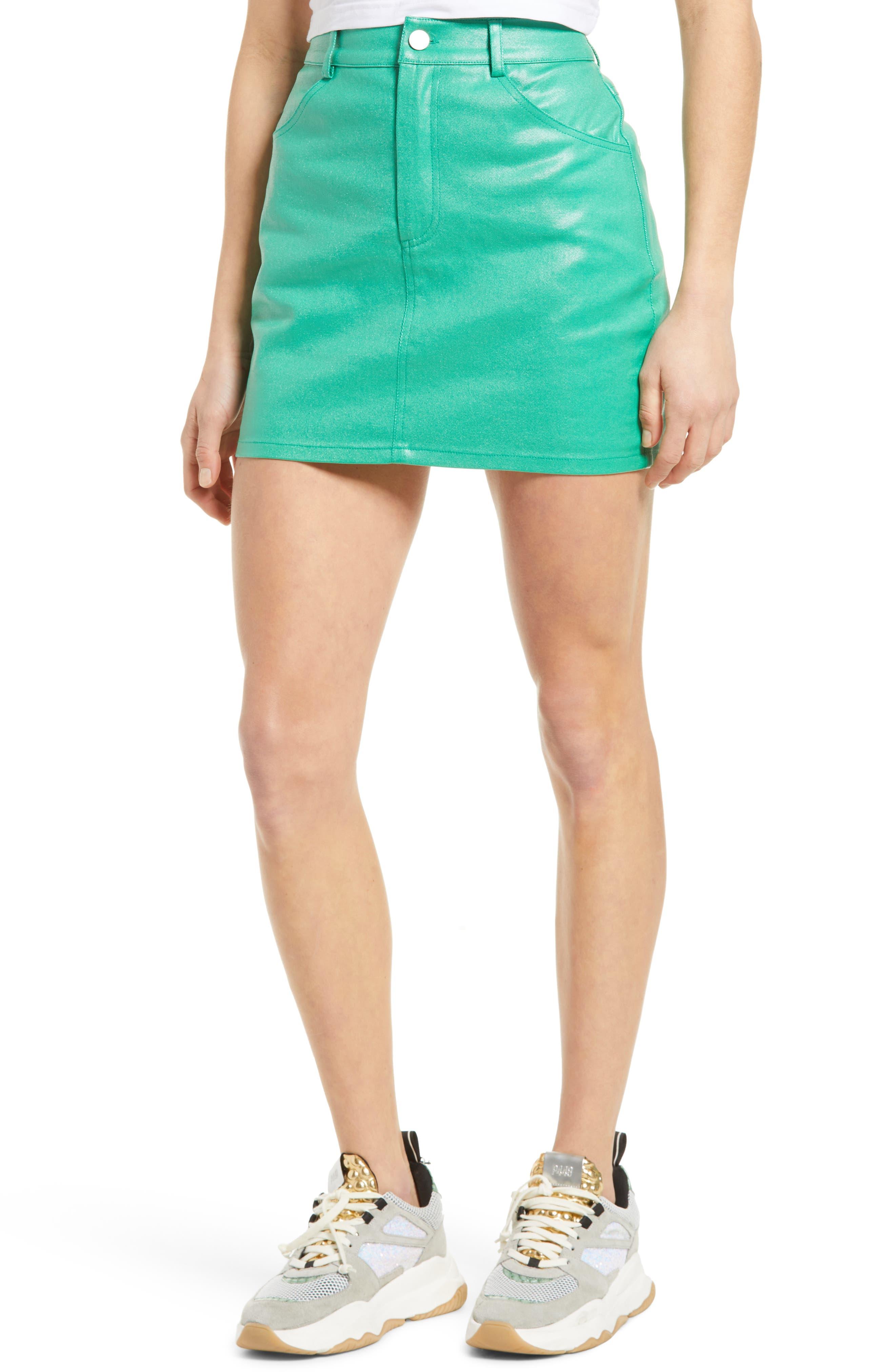 Coated Miniskirt