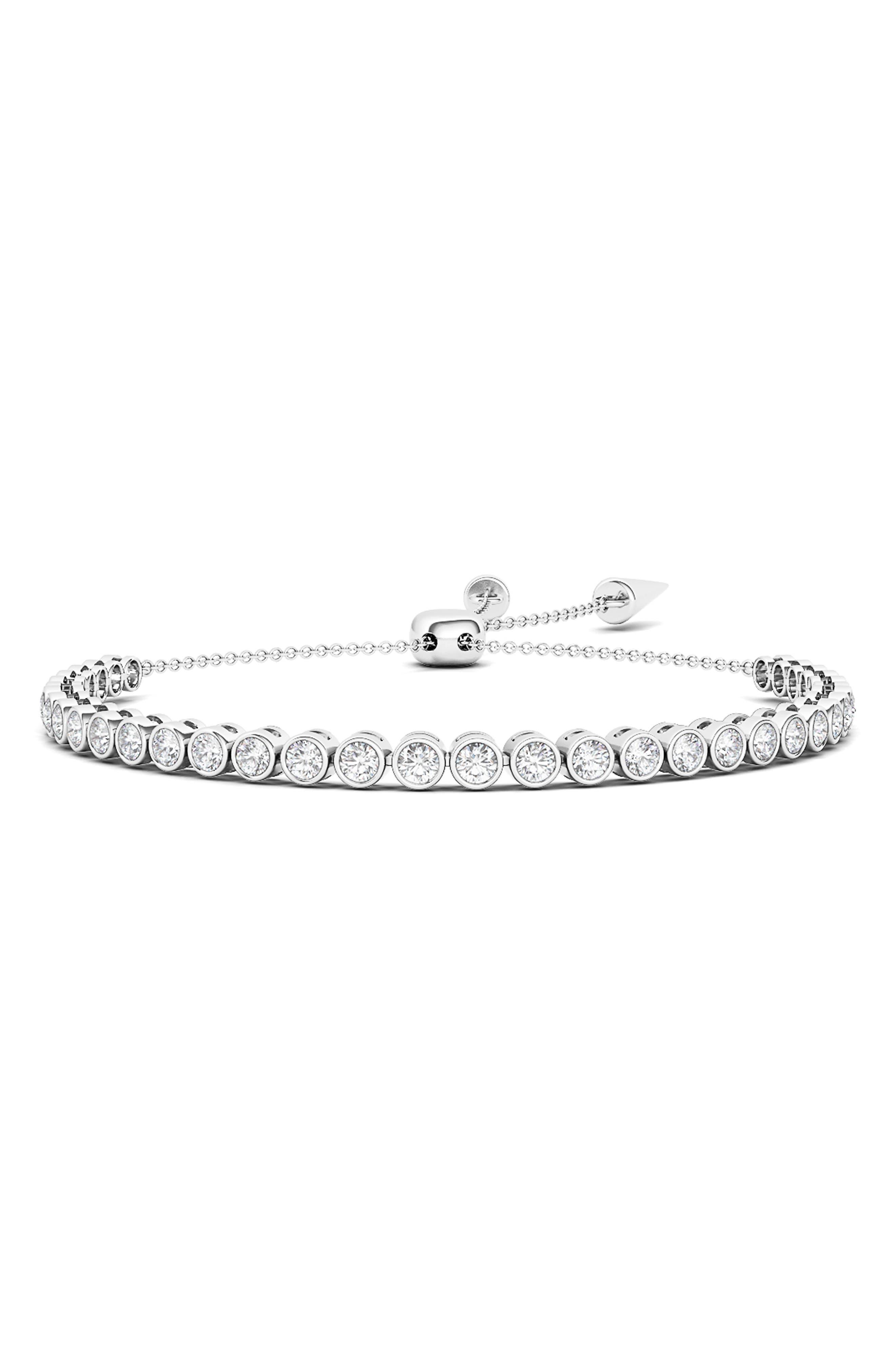 Graduated Lab Created Diamond Slider Bracelet