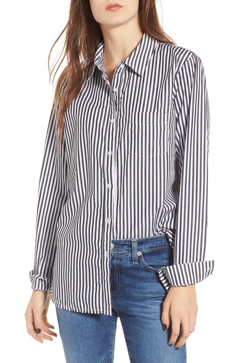 STATESIDE Stripe Oxford Shirt, Main, color, 001