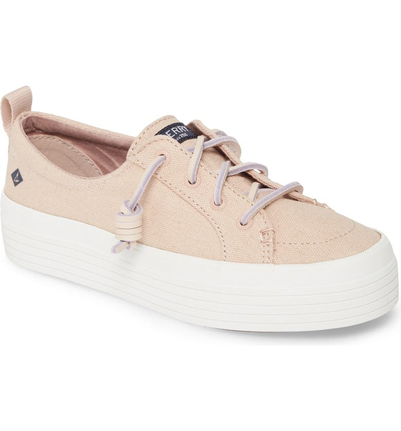 SPERRY Crest Vibe Platform Sneaker, Main, color, ROSE DUST CANVAS