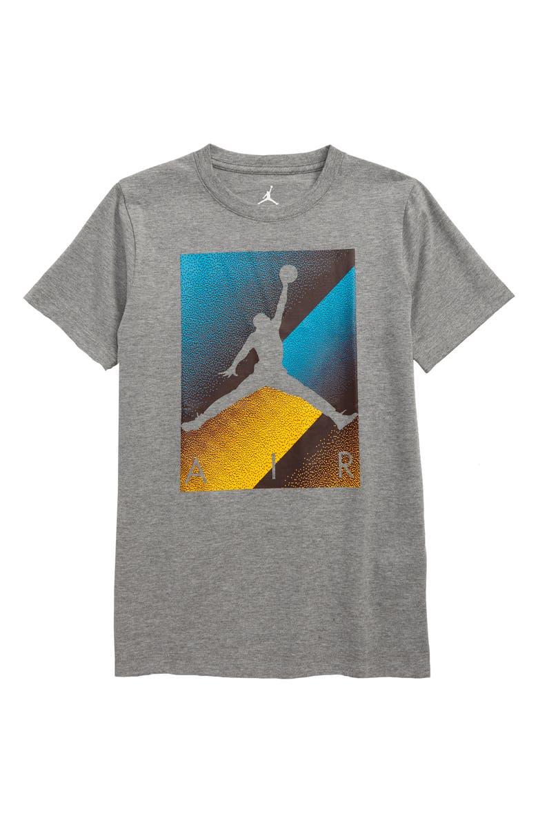 JORDAN Box Spray Graphic T-Shirt, Main, color, CARBON HEATHER