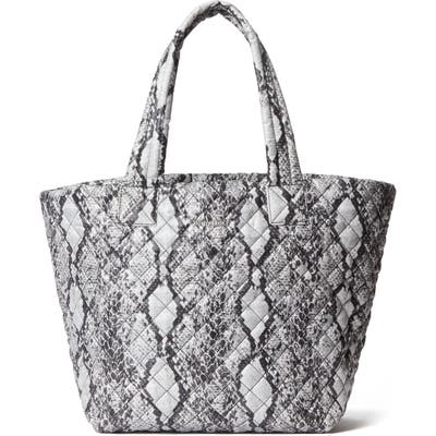 Mz Wallace Medium Metro Quilted Nylon Tote - Grey