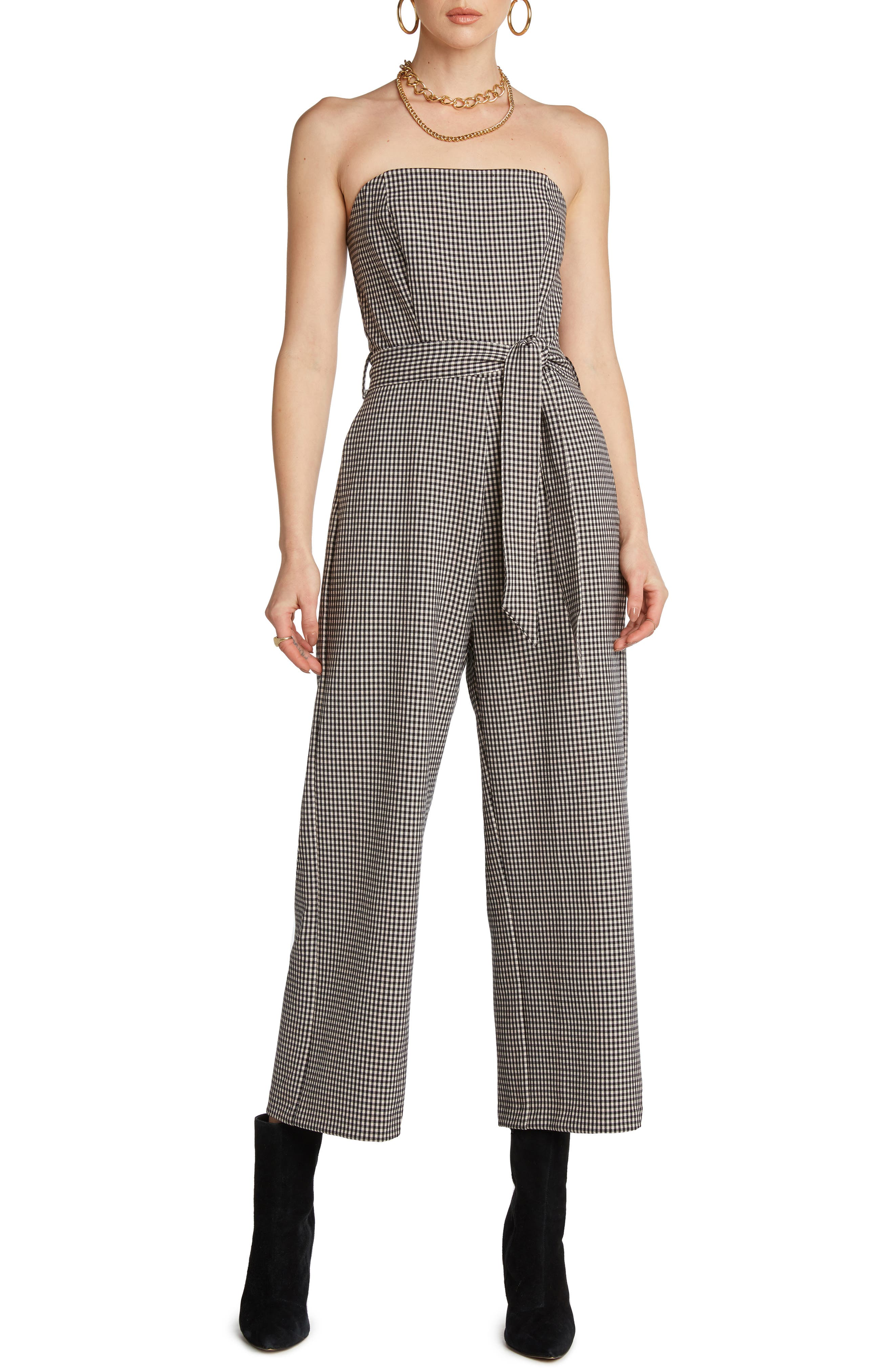 Image of WILLOW Ryan Print Strapless Wide Leg Jumpsuit