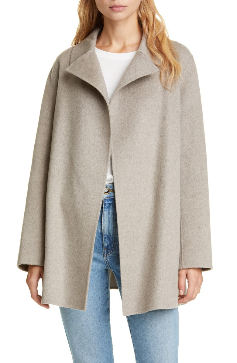THEORY Wool & Cashmere Overlay Coat, Main, color, 250