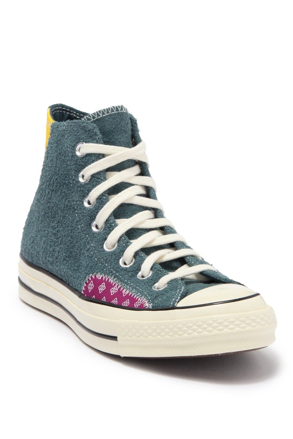 Image of Converse Chuck 70 Fuzzy Patchwork Hi-Top Sneaker