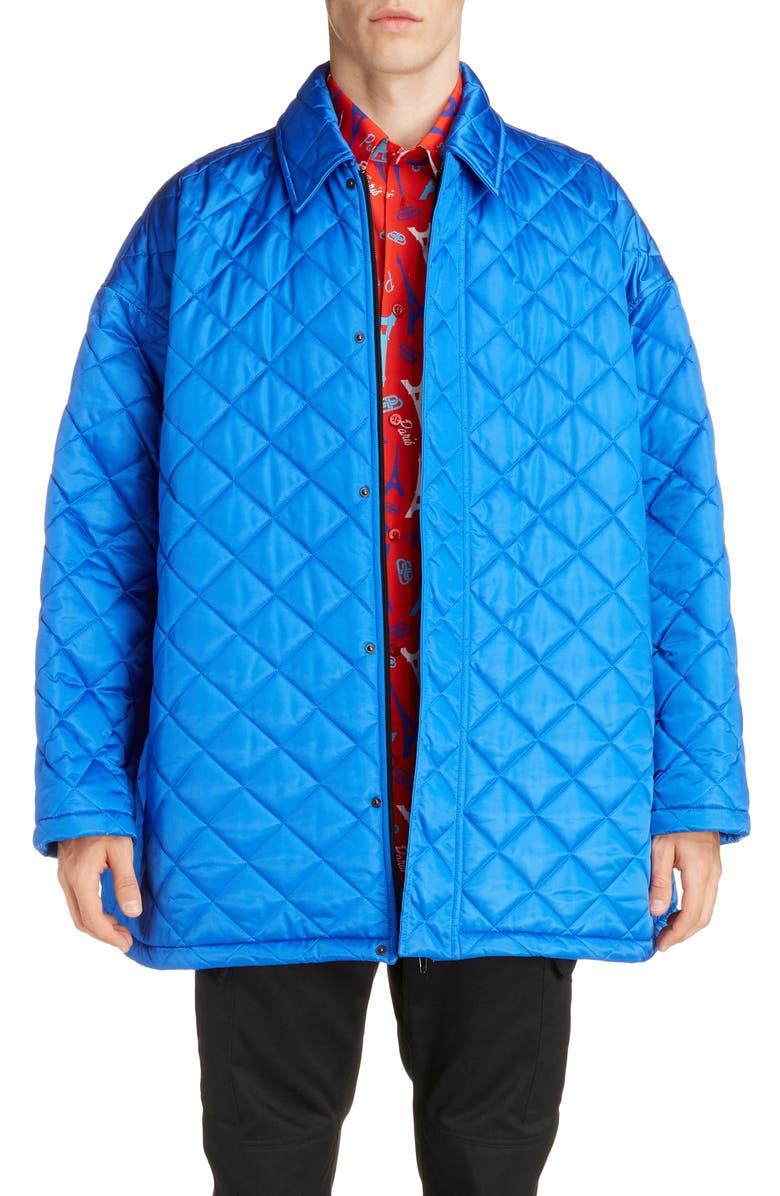 BALENCIAGA Oversize Quilted Nylon Jacket, Main, color, 483