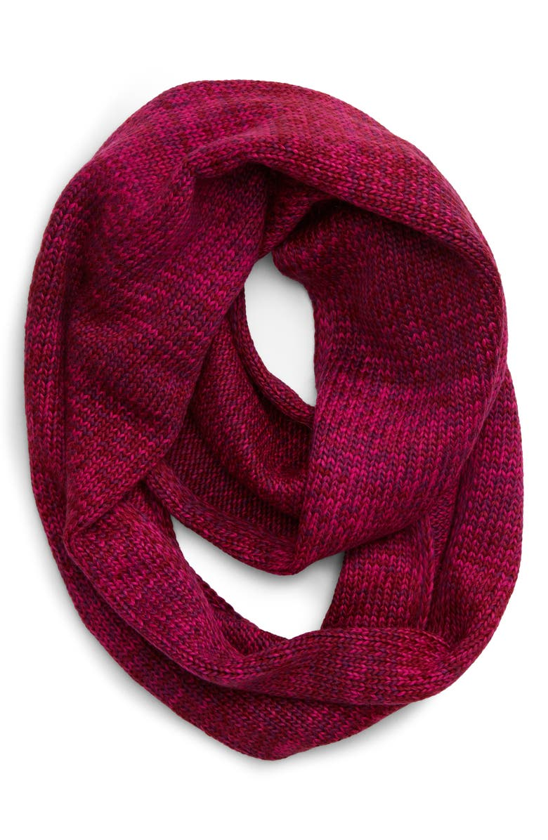 BP. Space Dye Knit Infinity Scarf, Main, color, PINK COMBO