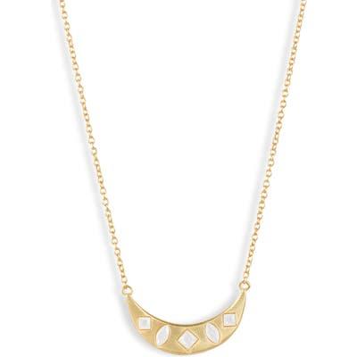 Gorjana Maya Crescent Pendant Necklace