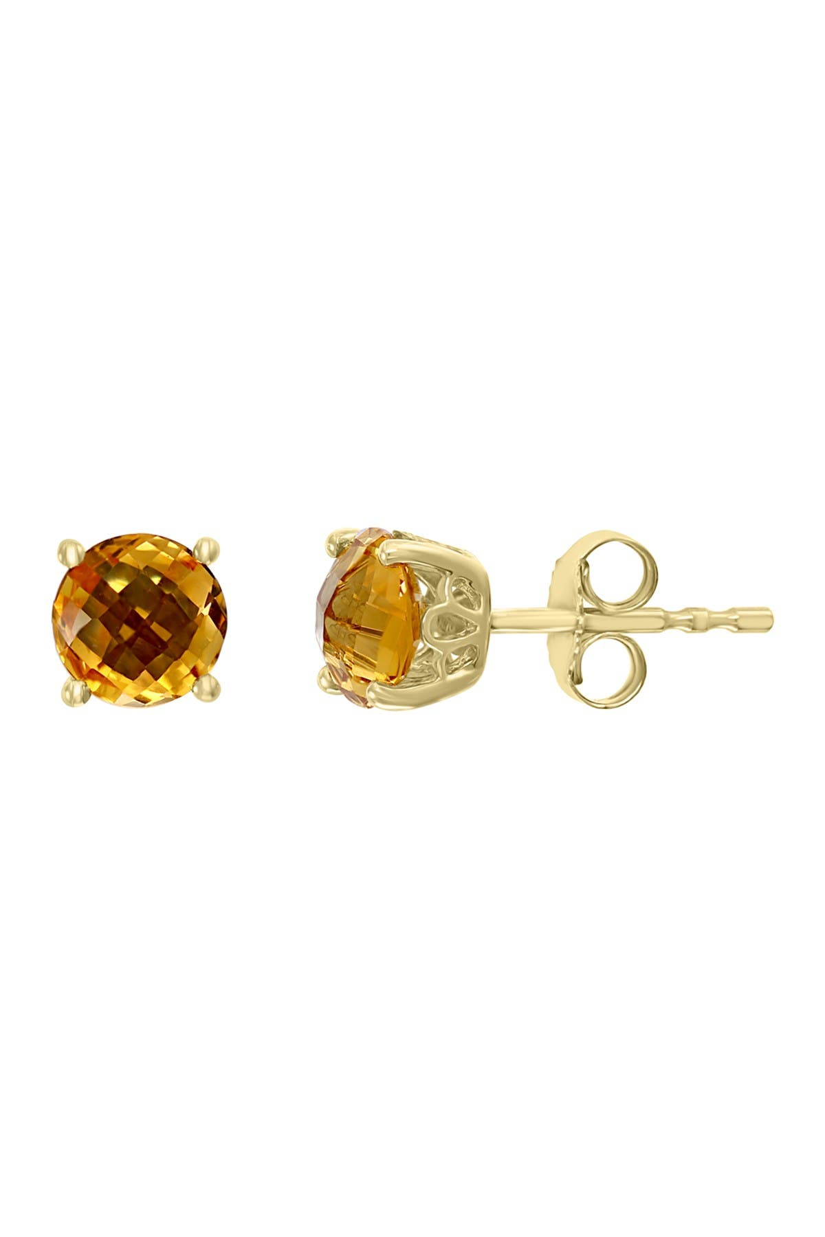 Citrine Stud Earrings 925 Sterling Silver Citrine Jewellery Yellow Gemstone Studs