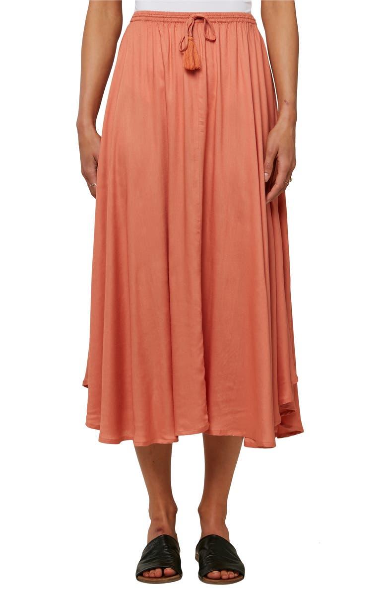 O'NEILL Samoa Midi Skirt, Main, color, HENNA
