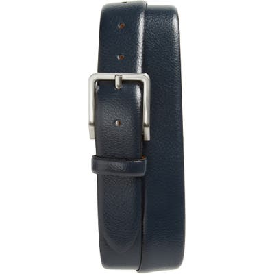 Johnston & Murphy Leather Belt, Navy