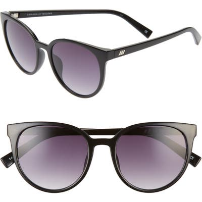 Le Specs Armada 5m Cat Eye Sunglasses - Black/ Smoke Gradient