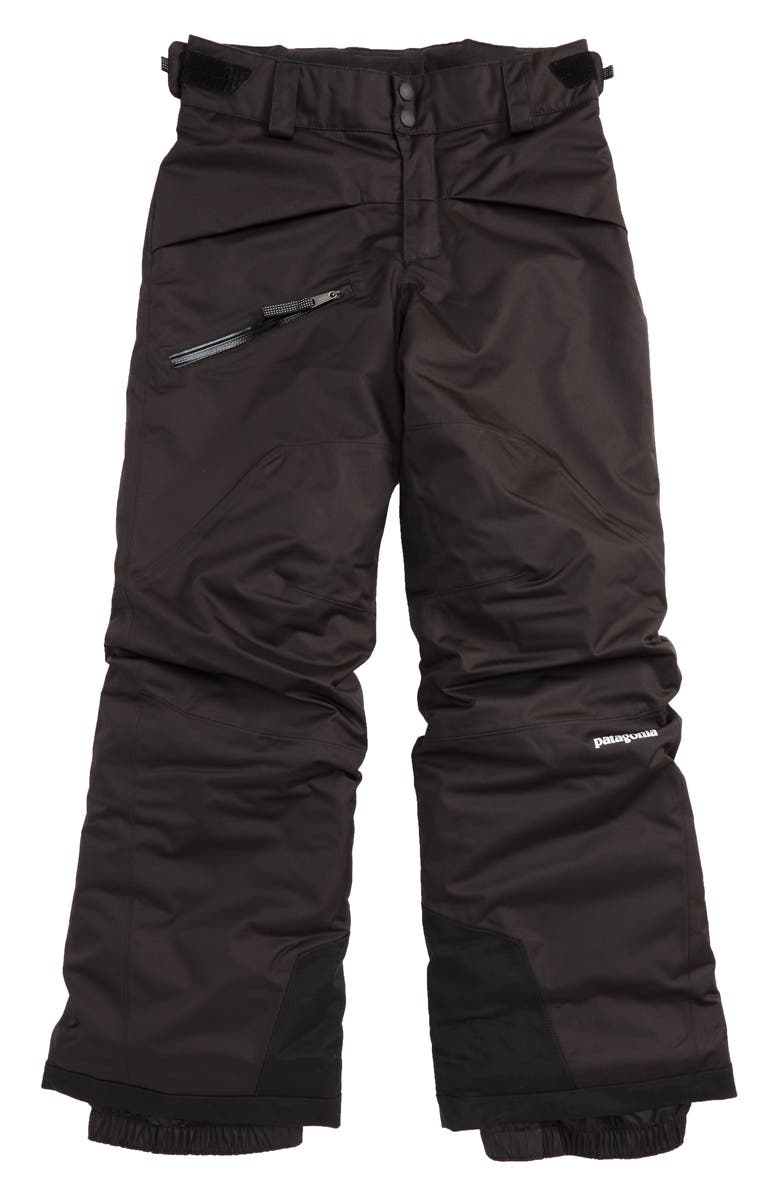 PATAGONIA Snowshot Insulated Snow Pants, Main, color, BLACK