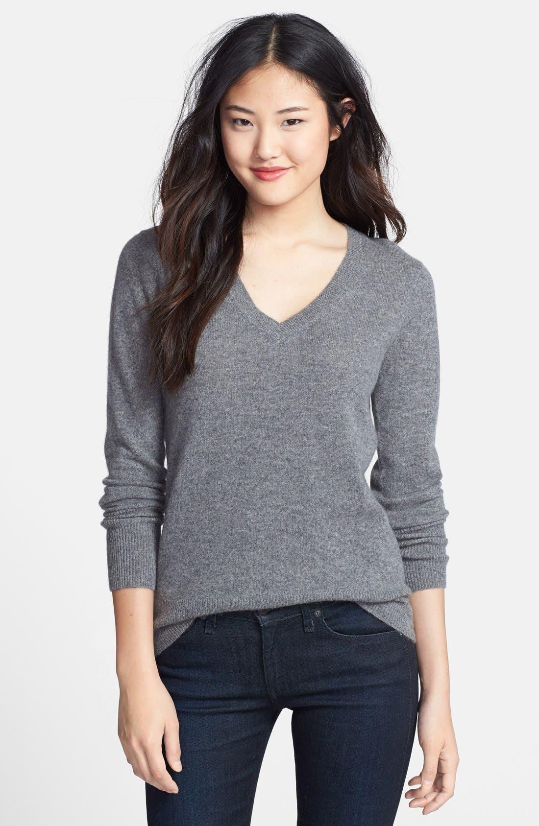 ,                             Cashmere V-Neck Sweater,                             Main thumbnail 9, color,                             030