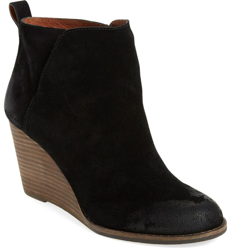 LUCKY BRAND 'Yezzah' Wedge Bootie, Main, color, 001