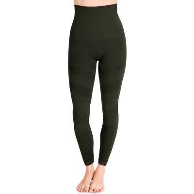 Belly Bandit Mother Tucker Compression Moto Leggings, Green