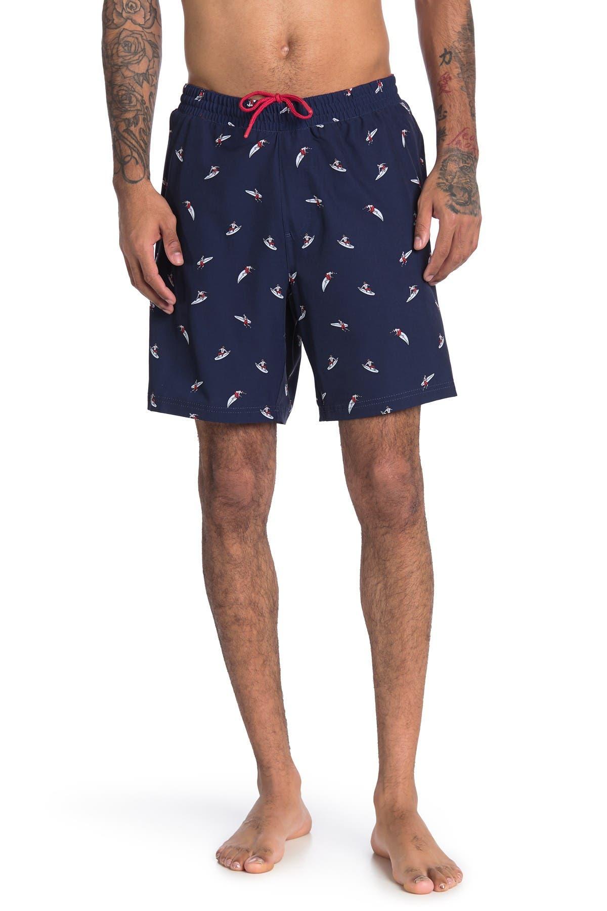 Image of Trunks Surf and Swim CO. Surfer Print Swim Shorts