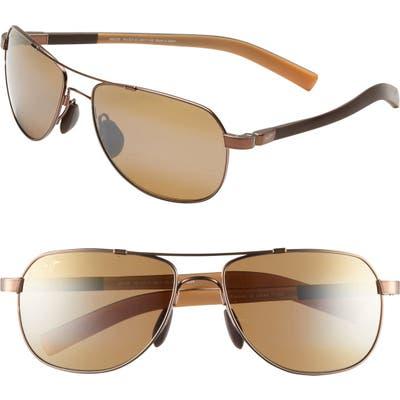 Maui Jim Maui Flex Polarizedplus2 5m Aviator Sunglasses - Copper/ Brown/ Tan