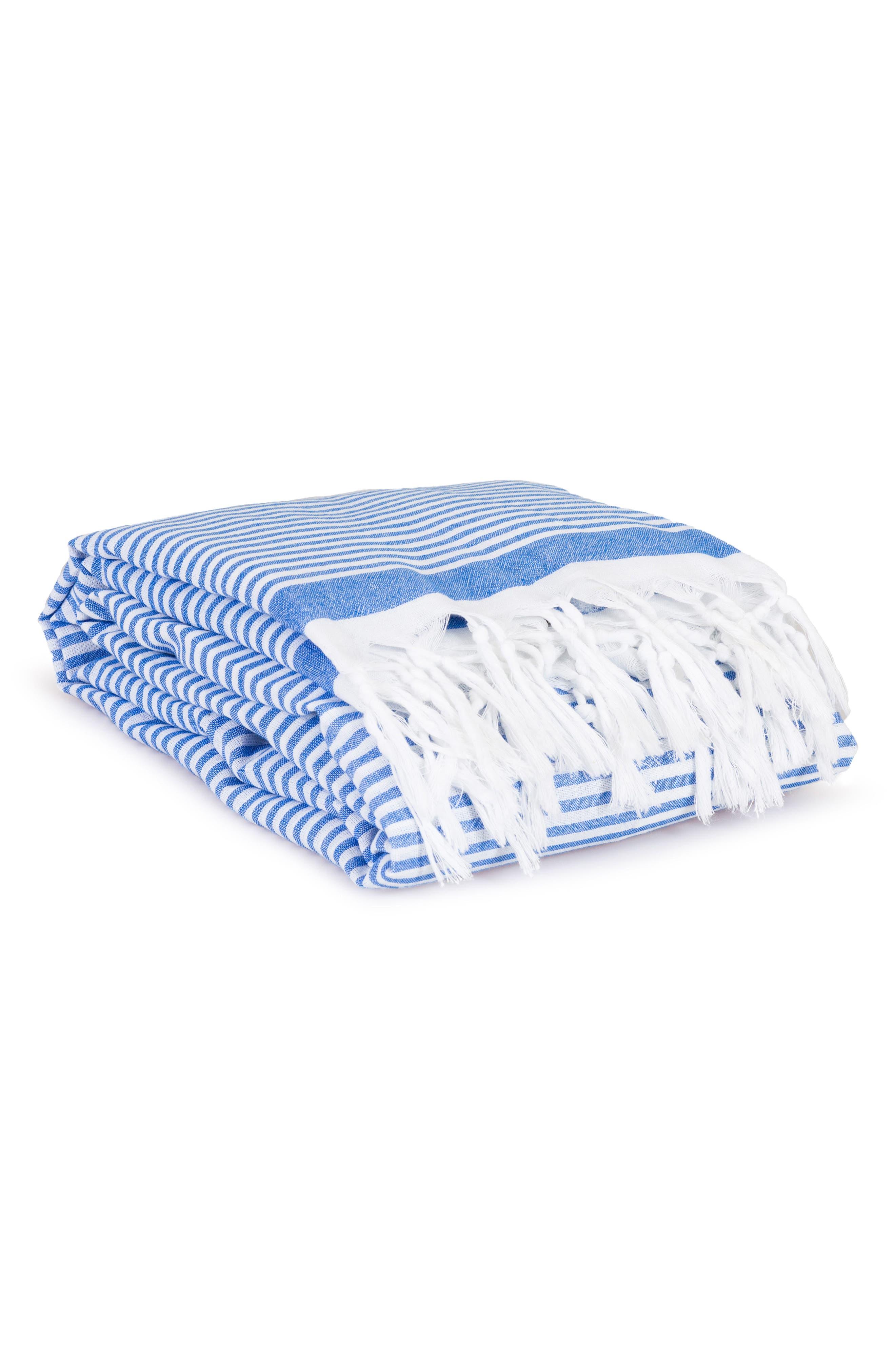 ,                             Soft Stripes Turkish Pestemal Towel,                             Alternate thumbnail 5, color,                             ROYAL BLUE