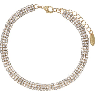 Ettika Crystal Pave Chain Anklet
