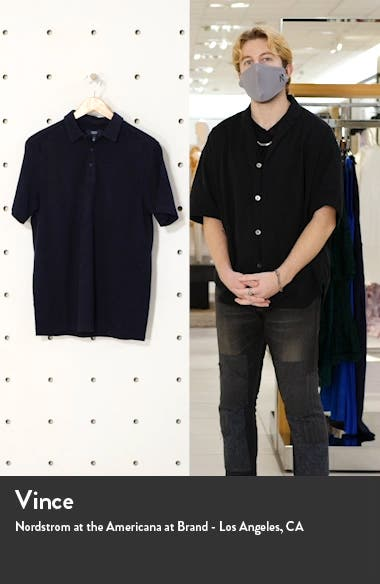 Marled Short Sleeve Cotton Polo, sales video thumbnail