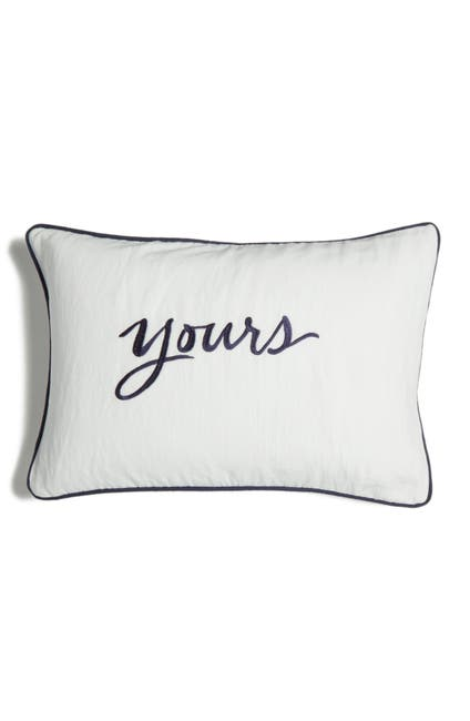 """Image of kate spade new york white mine yours pillow - 12"""" x 18"""""""