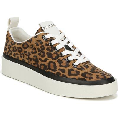 Via Spiga Mae Platform Sneaker, Brown
