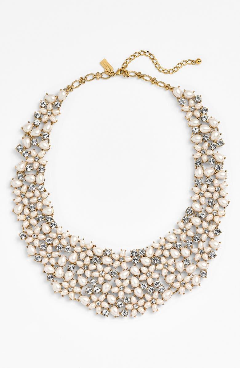 KATE SPADE NEW YORK 'mini bouquet' bib necklace, Main, color, 900