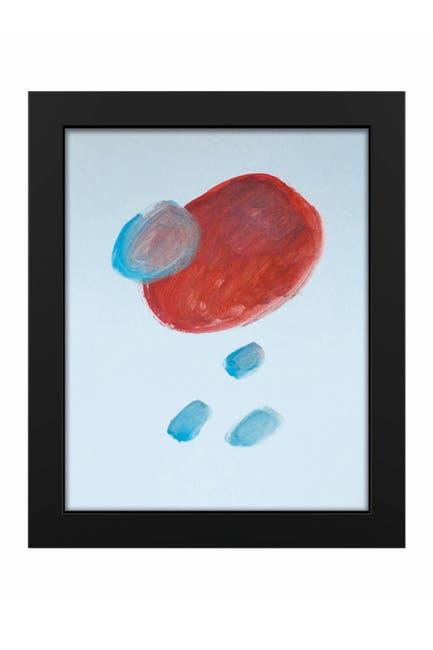 """Image of PTM Images Red on Blue 19""""x23"""" Framed MDF Canvas"""